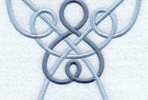 Celtic drawings or symbols
