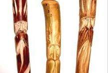 walking stix, staffs, wands,mushroom stix / by Angie Hundley