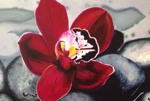Lyns painting / Floating orchid