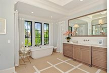 Luxurious Bathrooms / From swanky to sleek, relax into these spa-worthy retreats all within the comfort of your own home.