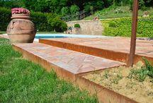 Corten Garden / Complementi in corten che completano spazi verdi! Marche colline natura e l'artigianlità MADE IN ITALY cuadra!