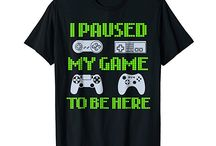 Gamer Inspired T-Shirts / Gamer Tees: Video Game T Shirts For Guys & Girls.  Quotes, Sayings, Funny, Humour, Shirts, Retro Video Games, Gifts, Anime, Girls, Boys