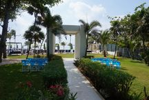 Azul Beach the Fives, Riviera Maya / This is a hidden gem located just before Playa del Carmen.  Spacious, with a good beach, luxury deluxe rooms, and 1 and 2 bedroom suites. There is a private area for beach front weddings. Cuisine is Gourmet all inclusive.