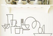 Vinilos para cocinas / Vinilos adhesivos de calidad que ofrece muchas posibilidades y combinaciones para decorar cualquier superficie de la cocina.