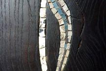 Mosaic stone wood