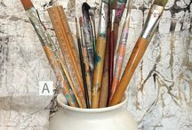 Art Supplies / Supplies and tools from an Artist's studio. For creativity, inspiration, display, play.