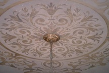 Stenciled ceiling / Kitchen, Dining room / by Lisa Arnold