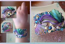 Jewelry   ( shibori silk  )