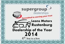 Awards / Awards going to Leons Motors Rustenburg