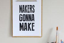 Make : Words