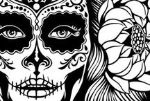 Mexican skull/ Calaveras Mexicanas / skull design