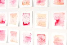 Watercolour Wedding Inspiration / Paint your wedding with all the colors in the palette!