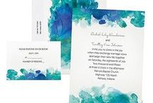Libby's watercolor save-the-date cards / by Cassandra Ericson