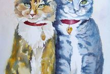 Cats In Art / Paintings with cats in.