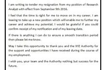Good Resignation Letter Sample