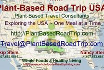 Plant Based Road Tripping/Travel / Our plans are to visit as many of the USA National/State Parks and Treasures as we can as well as other interesting sites. Besides the challenges of traveling, we are also Nutritional Vegans, living a Plant-Based Lifestyle, so have surmounted some challenges when it comes to dining, restaurants and hotel/motel accommodations.