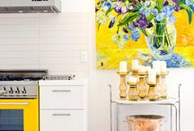 Yummy Yellow / Yellow is a bright and cheerful color - perfect o decorate your home with during the summer months. Browse through our top pins for using yellow as your accent color and happy pinning!