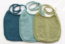 Knitted Baby Bibs