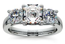 Asscher Diamond Rings Collection / Call Us Today: 866.737.0754 / by Brilliance.com