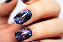 Galaxy (Make-up and nails)