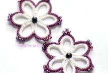 Серьги фриволитеTatting earrings