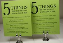 Party TABLE NUMBERS  / Ideas to direct the guests to their seating table and to coordinate with placecard/escort cards.