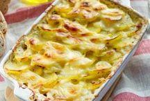 gratin de pommes de terre jambon ciboulette
