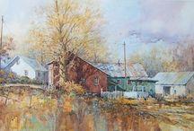 Художник IAN RAMSAY (Иэн Рамсей) ОСЕНЬ В АКВАРЕЛЯХ / Artist  Ian Ramsey was bornin in 1948 in Farnborough, Kent, England.