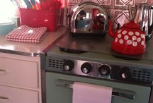 CAMPER KITCHENS! / These kitchens are adorable! I just love how sweet they are and the creativity and colours. I think I need to buy a camper!