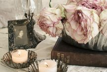 ::: Antiqued Romance Decor ::: / These pretty, romantic designs evoke calmness and innocence -- beauty for the ages.