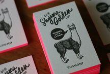 Business card inspiration / by Jessica Larsen-Hossain