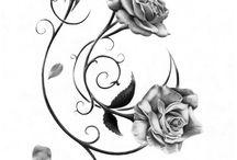 rosas para retok da minha tatoo