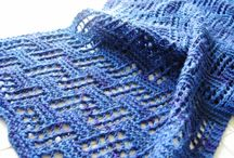 Knitted Scarves & Shawls / Patterns that have me itching to dig into my yarn stash and pick up my needles! / by Cathy Cole