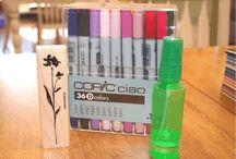 Copic & Coloured pencil Info