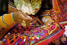 Molas / art textile peuple kunu du Panama et du nord de la Colombie