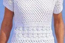 Blusas en crochet