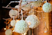 Wedding hung centrpieces