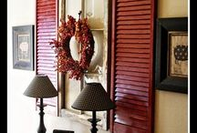 Repurposed shutters / Repurposed shutters | upcycled wood shutters | repurposed wooden shutters | shutter craft projects | things made from shutters