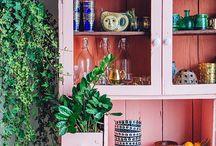 #Huis Beschilderde meubels / Voor bijvoorbeeld het verven van boekenkast