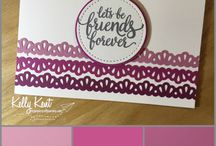 2017-2018 In Colour Combos / Colour combos for the new 2017-19 in colour set: Lemon Lime Twist; Fresh Fig; Powder Pink; Tranquil Tide; Berry Burst.