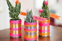 Riciclo creativo / Idee creative per decorare la casa con materiali riciclabili. Dal giardino alla cucina, dal bagno alla cameretta!