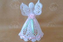 szydełko - aniołki dzwonki