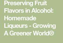 preserving fruit flavours in acohol
