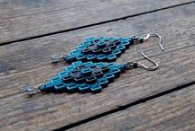 3D Printed Colorful Earrings by FISH3D Winter 2015