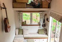 Tiny house furniture! / How can tiny homes be furnished comfortably. Style. efficiency. Aesthetics. The challenge of trying to furnish a tiny home. Innovative & creative ideas for furnishing a tiny home. / by Ellen McCann