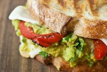 Food: Soups, Salads & Sandwiches/Breads / Soup or salad with sandwich or homemade bread.