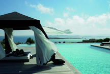 Outdoor Pool Settings / Who doesn't dream of a luxurious pool with beautifully designed outdoor furniture and umbrellas?