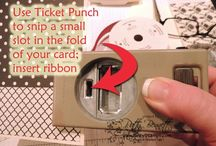 Stampin Up Ticket Punch ideas