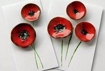 λουλούδια με πηλό