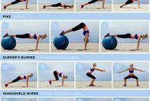 Übungen mit großen Ball